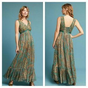 Anthropologie Ranna Gill Paisley Maxi Dress 6